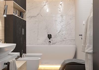 Kúpeľňa - 5-izbový byt